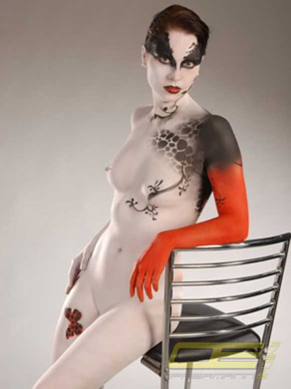 bodypainting modelle messe